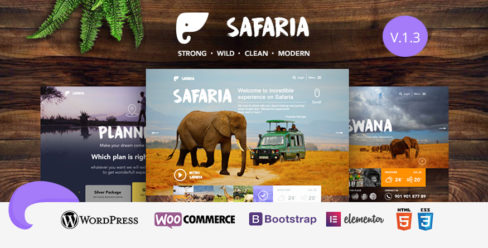 Safaria – Safari & Zoo WordPress Theme – 19116466