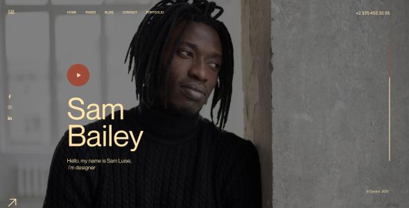 SamBailey – Personal CV/Resume Figma Template – 31502886 Free Download
