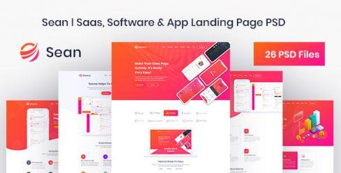 Sean – Saas, Software & App Landing Page PSD Template – 23153229
