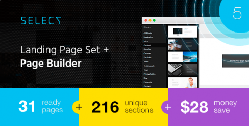 Select – Landing Page Set with a Builder – 11407624
