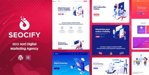 SEO Digital Marketing Agency WordPress Theme – 22613339