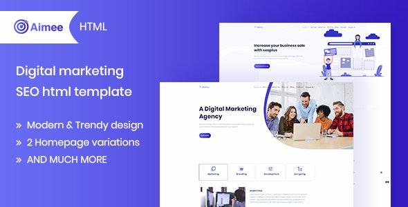 Aimee – Digital Marketing & SEO Template – 23069267 Free Download