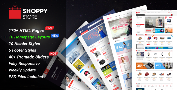 ShoppyStore – Multipurpose eCommerce HTML5 Template – 19341822 Free Download