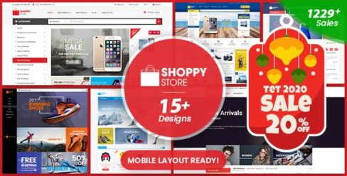 ShoppyStore – Multipurpose Responsive WooCommerce WordPress Theme (15+ Homepages & 3 Mobile Layouts) – 13607293