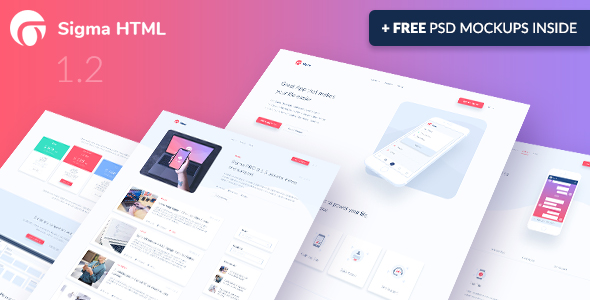 Sigma – App Landing Page HTML Template + Stylish Cost Calculator – 21180270 Free Download