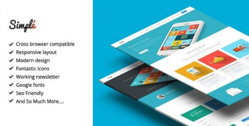 Simple – Responsive Landing Page Template – 8931163