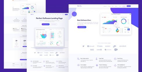 Software & SaaS App Landing Page Template – Startly – 21504238