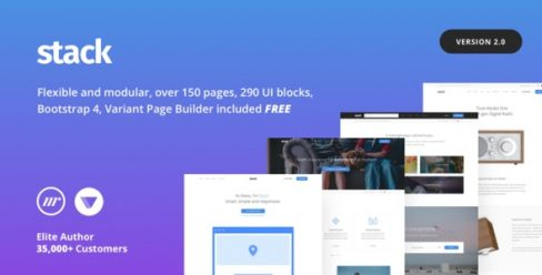 Stack – Multi Purpose HTML with Page Builder – 19337626