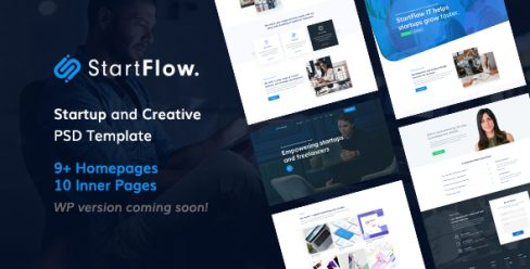 Start Flow – Startup and Creative Multipurpose PSD Template – 23794626