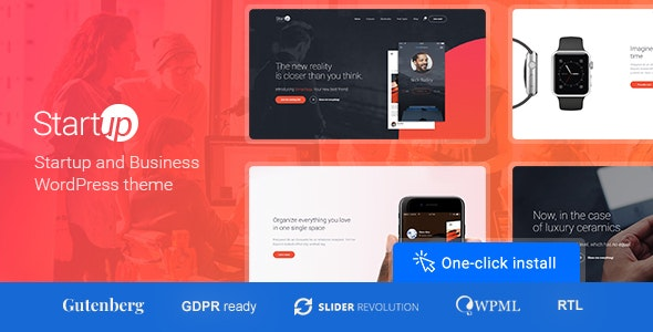 Startup Company – WordPress Theme for Business & Technology – 19843048 Free Download