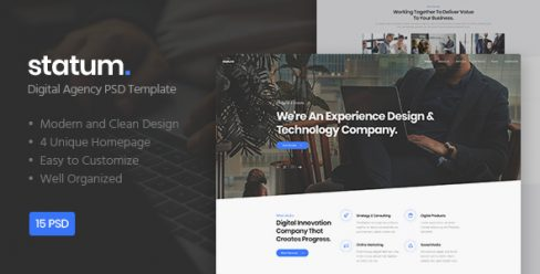 Statum – Digital Agency PSD Template – 23458241