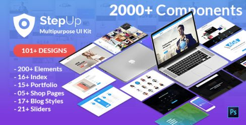StepUp Multipurpose All in One PSD Template – 24429240
