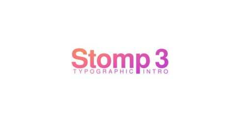 Stomp 3 – Typographic Intro – 23876109
