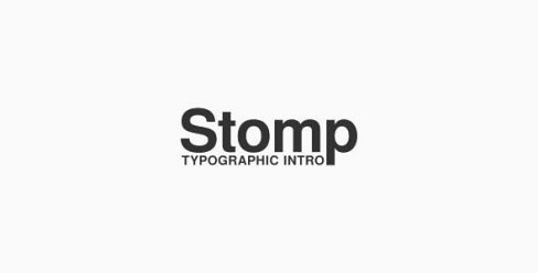 Stomp – Typographic Intro – 19211748