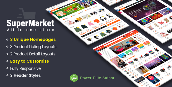Supermarket – Responsive MultiPurpose HTML 5 Template (Mobile Layouts Included) – 22316052 Free Download