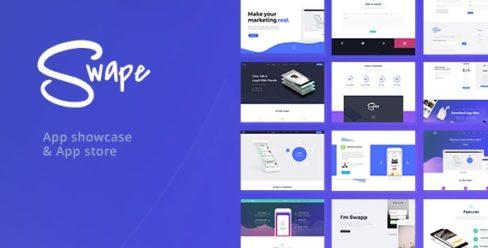 Swape – App Showcase & App Store WordPress Theme – 20376082