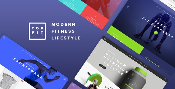 TopFit – Fitness and Gym Theme – 19531675 Free Download
