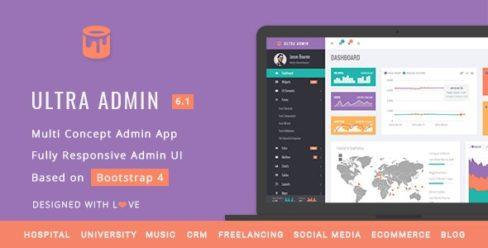 Ultra – Multi Purpose Admin Theme – 10865235