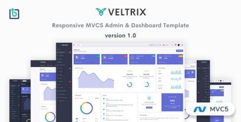 Veltrix – MVC5 Admin & Dashboard Template – 25475623