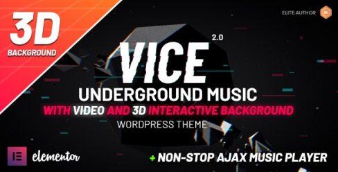 Vice: Underground Music Elementor WordPress Theme – 10067870