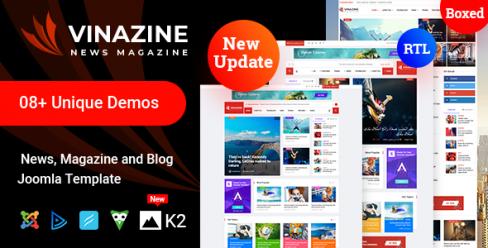 Vinazine – Joomla News Magazine Template – 22783647