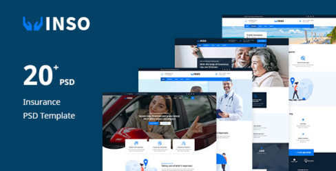Vinso | Insurance PSD Template – 25103291