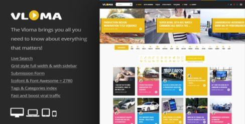 Vloma Grid – A Responsive WordPress Video Blog Theme – 19475843