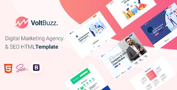 VoltBuzz – Digital Marketing Agency HTML Template – 29592740 Free Download