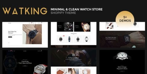 Watking – Minimal & Clean Watch Store Shopify Theme – 25635387
