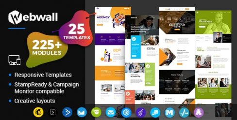 Webwall – Business Responsive Email Template + StampReady & CampaignMonitor compatible files – 24134456