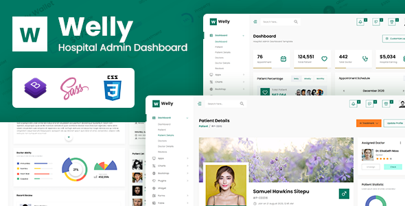 Welly – Hospital Admin Dashboard Bootstrap HTML Template – 29702688 Free Download