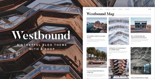 Westbound – A Storyful WordPress Blogging Theme – 29341040 Free Download