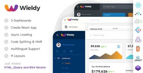 Wieldy – React Admin Template Ant Design and Redux – 22719616