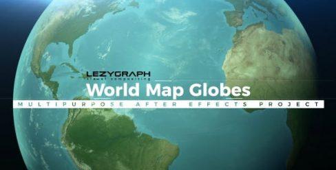 World Map Globes – 20709289