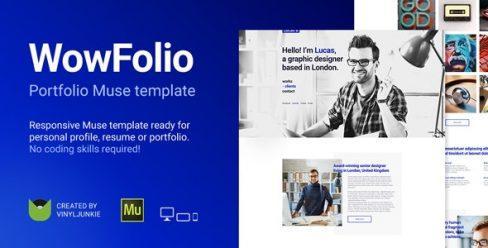 WowFolio – Responsive Portfolio / Resume Muse Template – 20552081