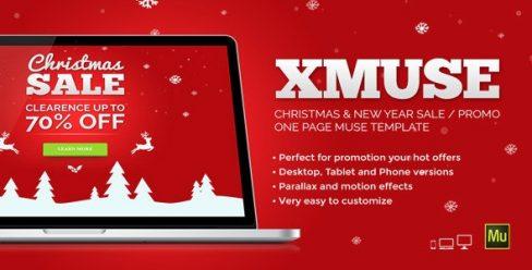 XMuse – Christmas Sale / Promo Muse Template – 9437134
