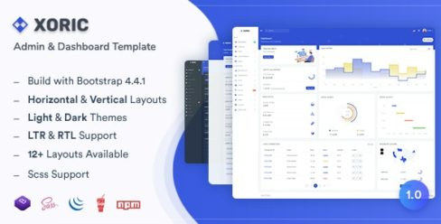 Xoric – Admin & Dashboard Template – 25555352