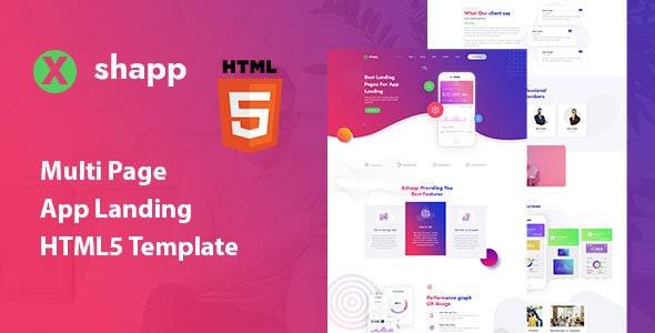 Xshapp – Multipage App Landing HTML5 Template – 31179265 Free Download