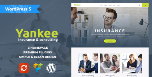 Yankee – Insurance & Consulting WordPress Theme – 19745716