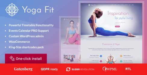 Yoga Fit – Sports & Fitness WordPress Theme – 12828455