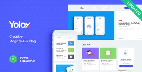 Yolox | Modern WordPress Blog Theme for Business & Startup – 23702588