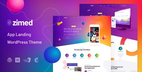 Zimed – App Landing WordPress Theme – 29227002 Free Download