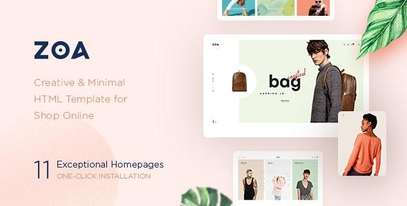 Zoa – Minimalist HTML Template – 22999082 Free Download