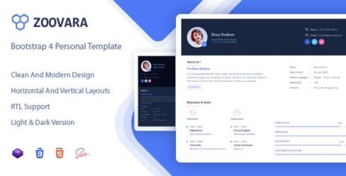 Zoovara – Personal Resume / CV Template – 24077428